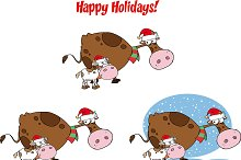Christmas Cow and Calf Collection