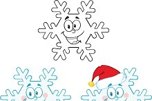 Snowflake Character. Collection
