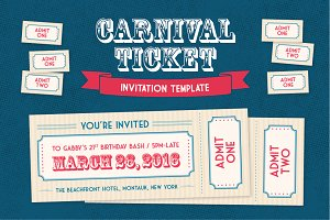 Carnival Ticket Invitation Template