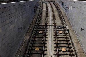 railway in Porto, Portugal