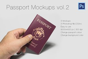 Photorealistic Passport Mockup Vol.2