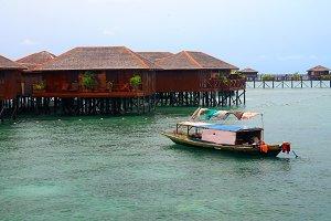 Sea gipsy boat in Mabul island