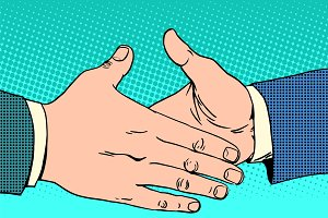 Deal handshake business concept