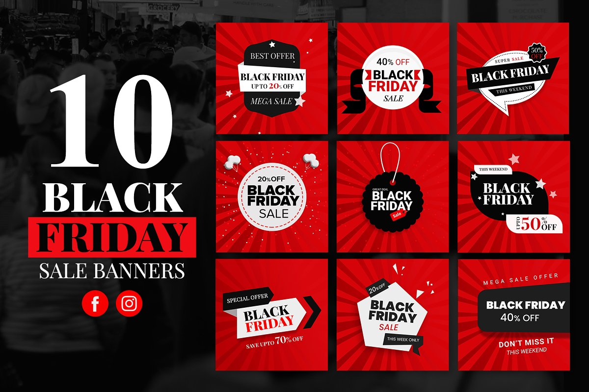 10 Black Friday Sale Banners
