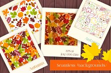 Autumn time seamless backgrounds
