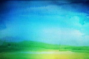 watercolor hand painted landscape