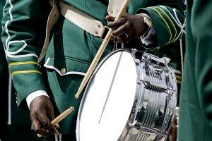 musician drumming