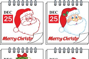 Christmas Calendars. Collection Set