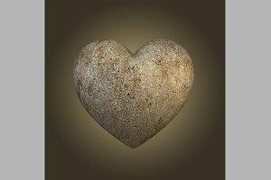 Concrete Heart Shape
