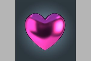 Pink Anodised Heart Shape
