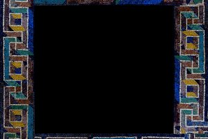 Authentic roman mosaic frame