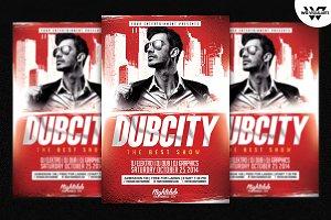 DUBCITY Deejay Flyer Template