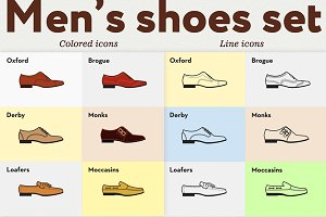 Men's shoes set