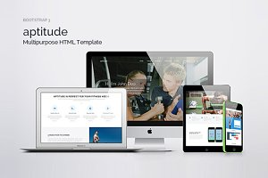 Multipurpose HTML5 Template-Aptitude
