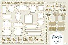 Art Deco Gold Vector Elements