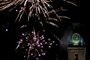 Fireworks in the bell tower