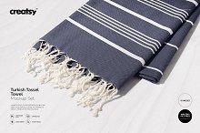Turkish Tassel Towel Mockup Set