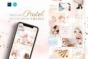 Puzzle Instagram - Canva & PS