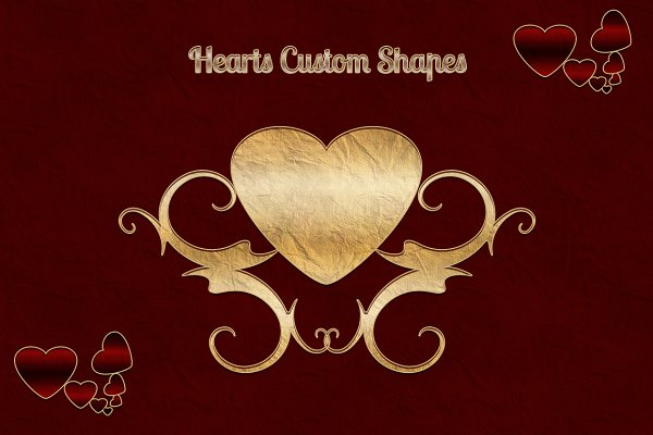 Photoshop Shapes - Heart Custom Shapes