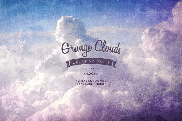 grunge clouds backgrounds graphics creative market