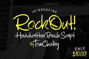 RockOut! Script + Bonus Font