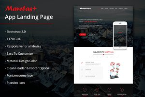 Marvelas+ Bootstrap App Landing Page