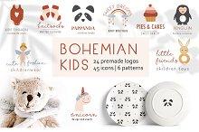 Bohemian kids logos by  in Logos