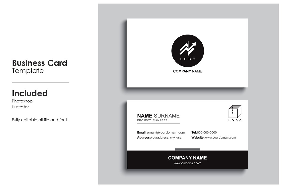 Minimal business card template.