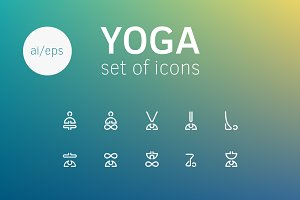 + YOGA BADGE ICON SET +