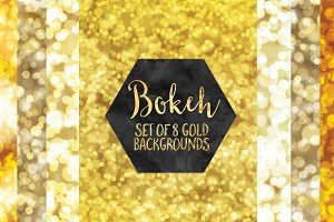 Gold Bokeh Backgrounds