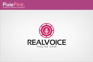 Real Voice Logo Template