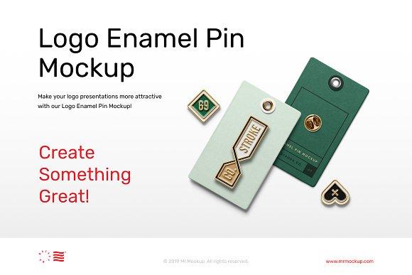 Logo Pin Enamel Mockup in Scene Creator Mockups - product preview 4