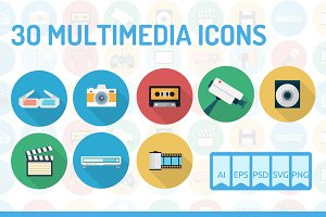 30 Multimedia Icons