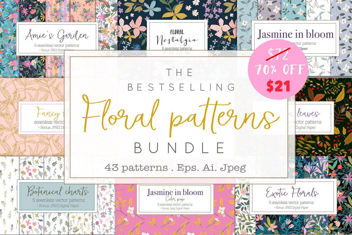 Best-selling patterns bundle in Patterns - product preview 8