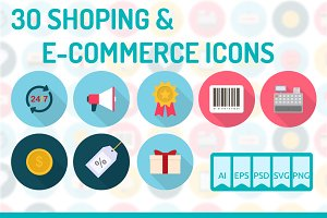 30 Shoping & E-Commerce Icons
