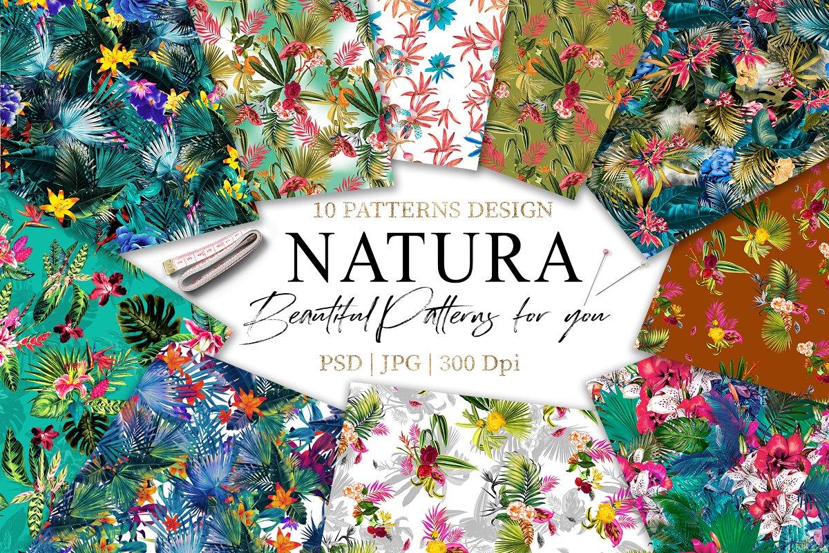 Natura   10 Seamless Pattern