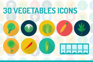 30 Vegetables Icons