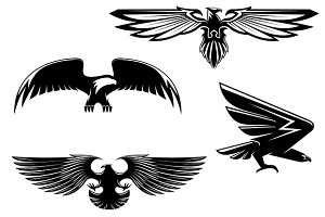 Heraldry eagles