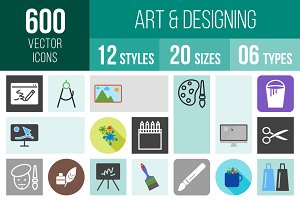 600 Art & Designing Icons