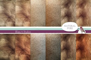 Natural Fur Digital Paper Collection