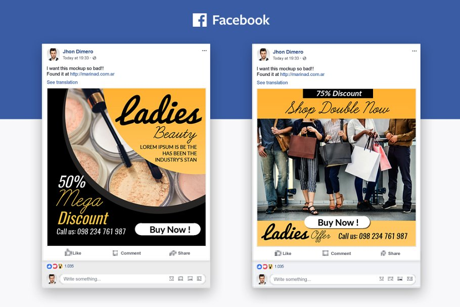 6 Fashion Facebook Post Banners