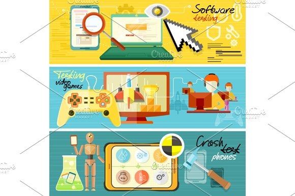 Software Testing, Games Crash Test in Illustrations - product preview 1