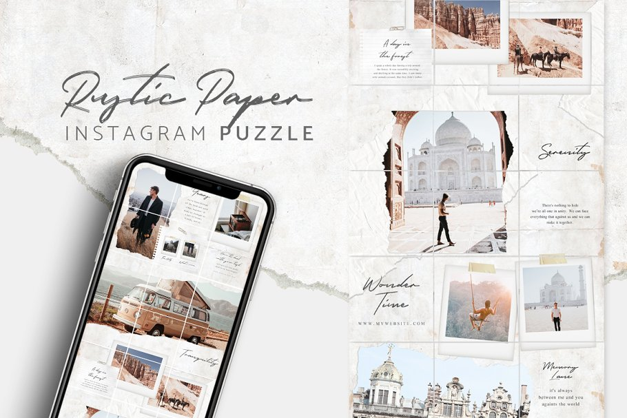 Instagram Puzzle - Canva & PS