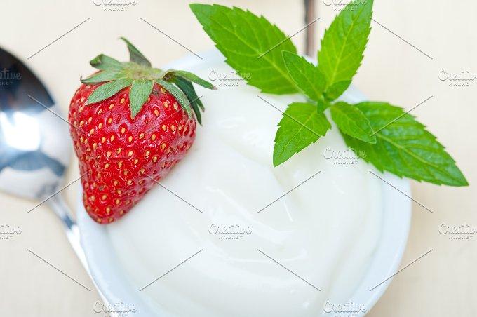 Greek organic yogurt and strawberries 008.jpg - Food & Drink