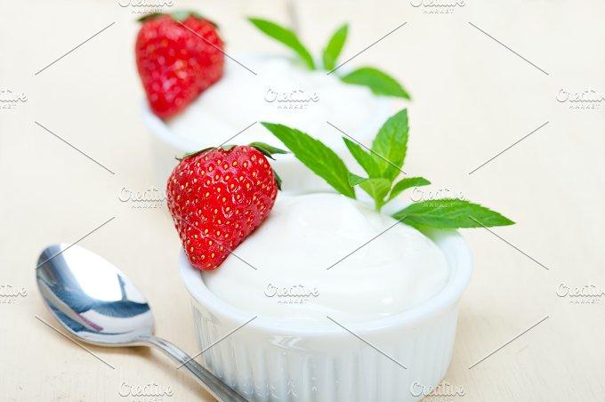 Greek organic yogurt and strawberries 006.jpg - Food & Drink