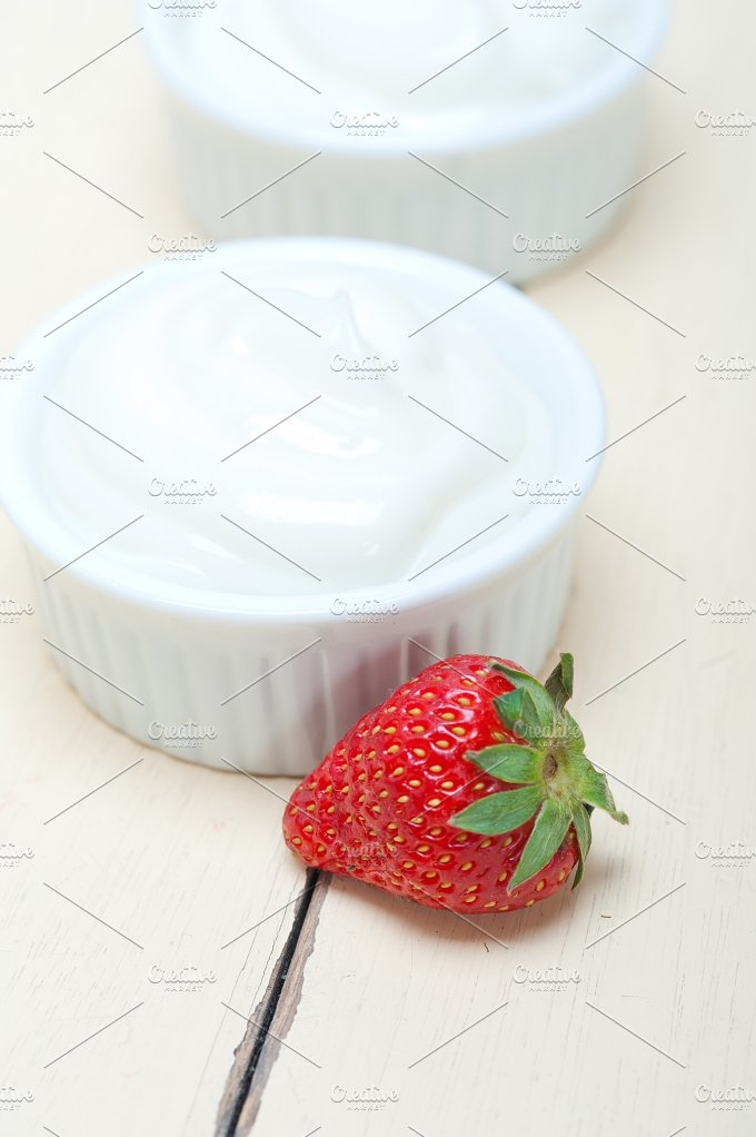 Greek organic yogurt and strawberries 002.jpg - Food & Drink