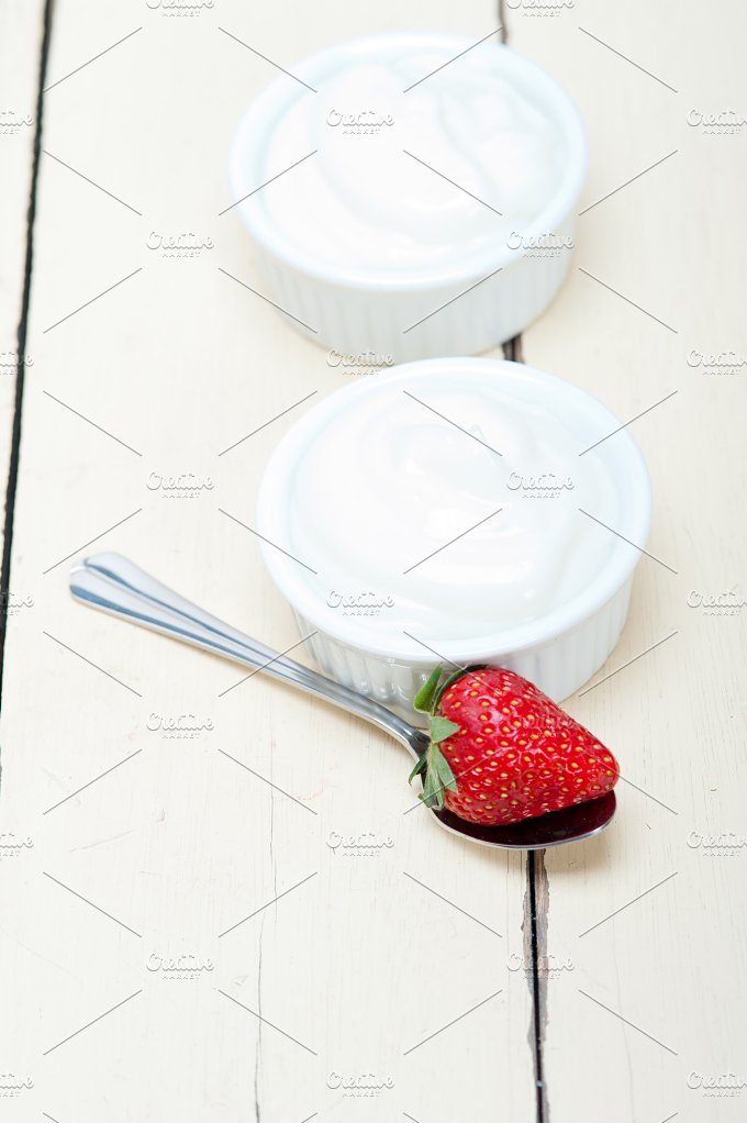 Greek organic yogurt and strawberries 003.jpg - Food & Drink