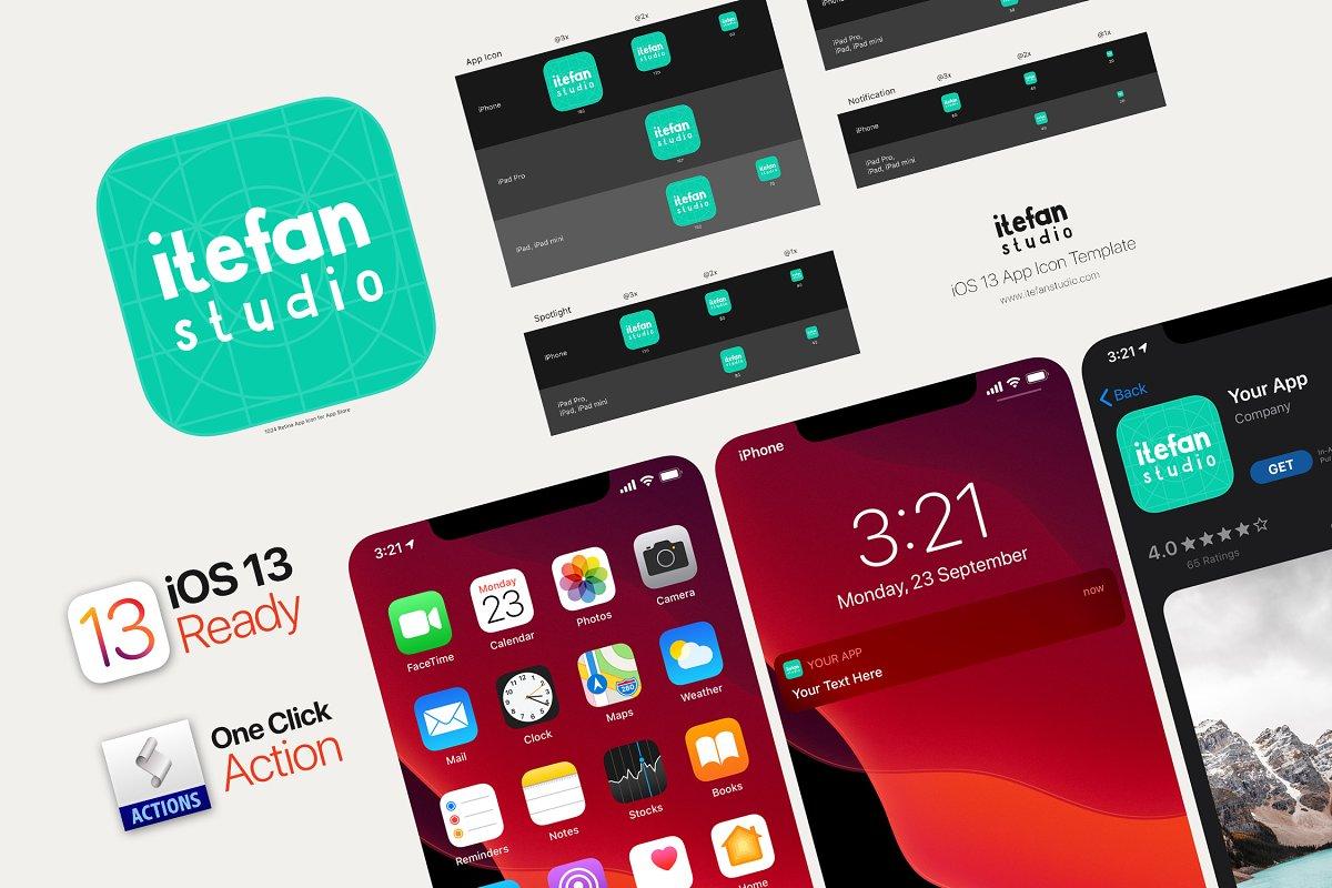 Ios 13 App Icon Template Unique Photoshop Add Ons Creative Market