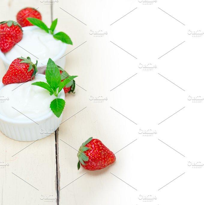 Greek organic yogurt and strawberries 031.jpg - Food & Drink