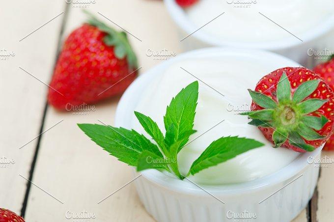 Greek organic yogurt and strawberries 034.jpg - Food & Drink